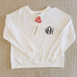 Wildfox Nah Monogram Sweater Size S